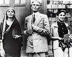 Muhammad Ali Jinnah with sister and daughter Dina